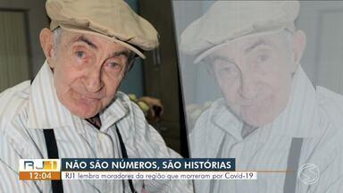 RJ1 lembra dos moradores do Sul do Rio que morreram por Covid-19 - As histórias de algumas das 61 pessoas que faleceram durante a pandemia foram mostradas.
