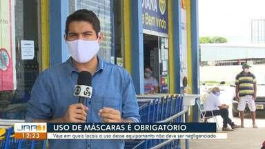 Uso de máscara de proteção é obrigatório para setores do comércio,indústria e serviços - Equipamento de proteção é obrigatório para empresas e a população em geral.