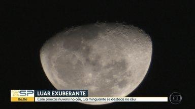 Lua chama a atenção em noites de outono - Estamos na lua minguante, a próxima lua cheia será a partir de 05/06.