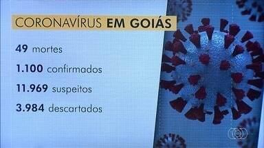 Goiás tem duas novas mortes por coronavírus e 1.100 casos confirmados, diz SES - Total de mortes chegou a 49. Secretaria ainda investiga outros 11.969 casos suspeitos.