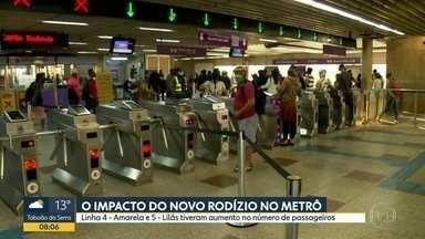 Metrô e CPTM registraram 12% a mais no fluxo de passageiros nesta segunda - Aumento acontece no primeiro dia de rodízio ampliado na cidade de SP.
