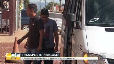 Transporte perigoso no Sol Nascente - Passageiros do Sol Nascente pegam transporte pirata sem usar máscaras.