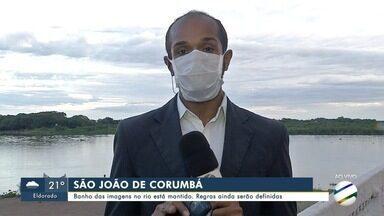Banho das imagens no rio Paraguai está mantido em Corumbá - Regras ainda serão definidas.