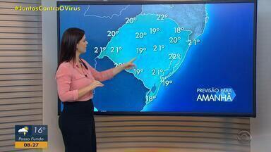 Quarta-feira (13) segue com chuva no RS; metade Norte tem alerta para temporais - Temperaturas continuam amenas.