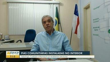 Pias comunitárias são instaladas no 'interior do Amazonas - Tabatinga, Codajás e Manaquiri já receberam estruturas.