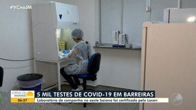Laboratório da Universidade Federal do Oeste da BA vai aplicar teste da Covid-19 na região - Unidade foi certificada pelo Lacen e vai realizar cerca de cinco mil procedimentos.