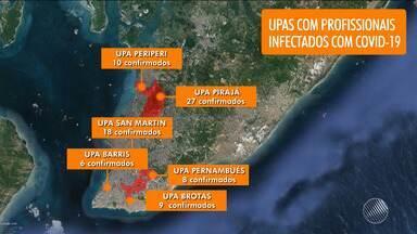 UPA do bairro de Pirajá concentra o maior número de profissionais de saúde com Covid-19 - Confira outros dados do balanço.