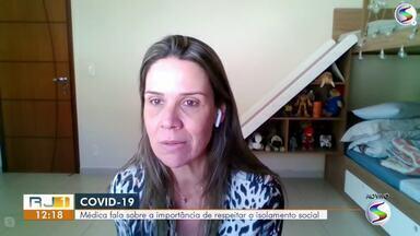 Médica conversa ao vivo no RJ1 sobre cuidados para evitar contaminação pelo coronavírus - Especialista explicar formas de contágio e prevenção da doença.