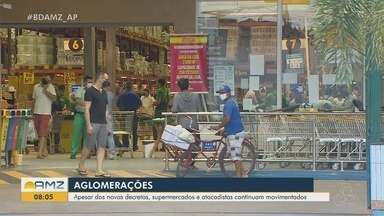 Aglomerações ainda são preocupantes em Macapá apesar de Decretos que pedem isolamento - Aglomerações ainda são preocupantes em Macapá apesar de Decretos que pedem isolamento