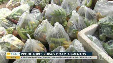 Por falta de vendas, produtores rurais doam alimentos em Santarém e região - Confira na reportagem.