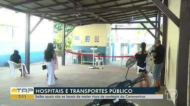 Saiba qual os locais com maiores riscos de contágio - Hospitais e transporte público podem oferecer grandes riscos.