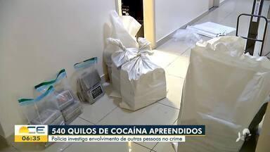 PF investiga envolvidos na apreensão de 540 kg de cocaína em Fortaleza - Saiba mais em g1.com.br/ce