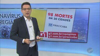 Região de Campinas tem 1.828 casos confirmados de coronavírus - O número de mortes chegou a 98 em 20 cidades atingidas pela Covid-19.