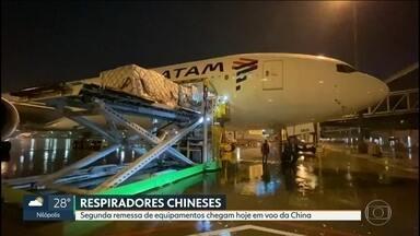 Mais um avião com equipamentos para tratamento da Covid-19 deve chegar da China - A segunda remessa deve chegar nesta terça-feira (13).