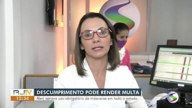 Alerj aprova uso obrigatório de máscaras em todo o estado do Rio de Janeiro - Proposta estabelece multa para pessoas e empresas que descumprirem a regra.