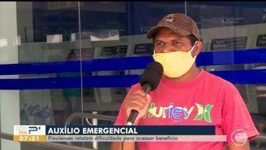 Piauienses relatam dificuldade para retirar auxílio emergencial - Piauienses relatam dificuldade para retirar auxílio emergencial