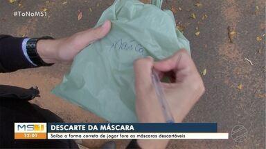 Saiba como jogar no lixo, de maneira correta, as máscaras descartáveis - A partir desta quarta-feira (13) servidores da Prefeitura só pode trabalhar com máscaras