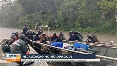 Policia Civil faz operação de fiscalização contra travessias clandestinas no Rio Oiapoque - Policia Civil faz operação de fiscalização contra travessias clandestinas no Rio Oiapoque