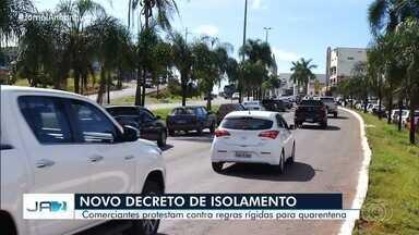 Comerciantes protestam contra regras mais rígidas para quarentena em Goiás - No estado, em 24 horas foram registradas 9 mortes.