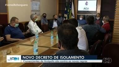 Comerciantes de Anápolis são contra regras mais rígidas de isolamento, em Goiás - Governo prepara novo decreto para tentar conter avanço do coronavírus.