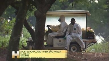 Pesquisadores brasileiros tentam identificar o pico da Covid-19 no país - Pesquisadores brasileiros tentam identificar o pico da doença em cada estado. Para isso, eles criaram uma ferramenta que monitora as mortes dia após dia.