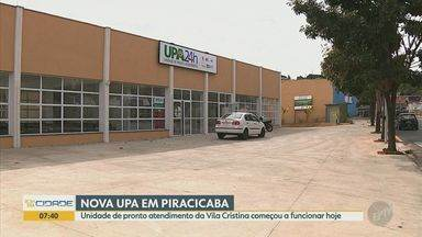 Nova UPA Vila Cristina começa a funcionar nesta sexta em Piracicaba - Unidade terá sete respiradores, equipamentos para atender casos graves do novo coronavírus, e que vão equipar os sete leitos da sala de emergência da unidade.