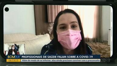 Profissionais da saúde, com Covid-19 falam da experiência do isolamento - Em Curitiba, 9 profissionais estão infectados. Veja nas outras cidades do Paraná o número de contaminações entre profissionais da área da saúde.