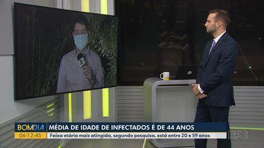 A média de idade de infectados com Covid-19 no Paraná é de 44 anos - A cada dia cresce o número de paranaenses mais jovens com a doença.