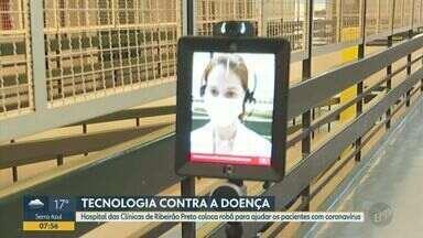 HC usa robô para monitorar pacientes internados com Covid-19 em Ribeirão Preto - Equipamento alemão é usado em situações específicas e ajudar a reduzir risco de contágio por profissionais de saúde. Desde os primeiros casos na cidade, 59 funcionários foram infectados.