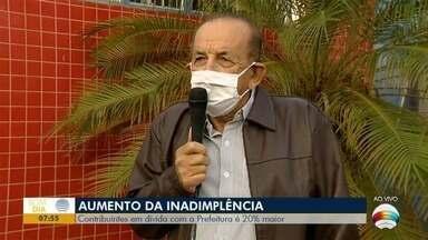 Aumenta em 20% o número de inadimplentes com a Prefeitura - Alteração começou após o início da pandemia.