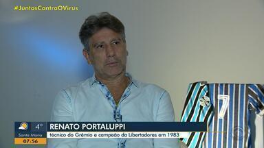 Renato Portaluppi relembra primeira conquista da Libertadores do Grêmio - RBS TV reexibe partida entre o Tricolor e o Peñarol em 1983.