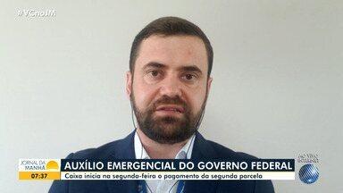 Segunda parcela do pagamento do auxílio emergencial começa a ser paga na próxima semana - A Superintendência da Caixa Econômica Federal em Salvador acredita que as agências vão ter filas menores do que na primeira fase.