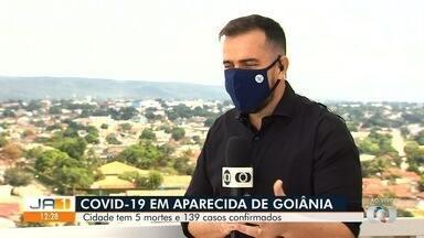 Aparecida de Goiânia registra 5 mortes e 139 casos confirmados de coronavírus - Cidade é a segunda maior do estado.
