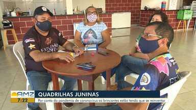 Quadrilhas juninas de Roraima realiza arraial em casa através de live - Por conta da pandemia de coronavírus os brincantes estão tendo que se reinventar .