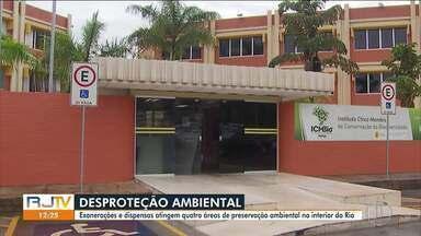 Exonerações e dispensas atingem quatro áreas de preservação ambiental no interior do Rio - Após decisão do governo federal, representantes de instituições e ambientalistas estão preocupados uma possível falta de fiscalização.