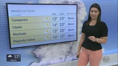 Confira a previsão do tempo para o Sul de MG - Luara Gallacho traz as informações