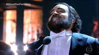 Helga Nemetik homenageia Luciano Pavarotti no Show dos Famosos - Relembre o quadro de sucesso