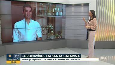 Santa Catarina tem 4.776 casos e 83 mortes por Covid-19 - Santa Catarina tem 4.776 casos e 83 mortes por Covid-19