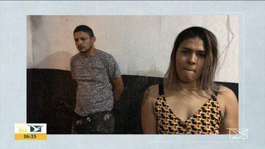 Casal suspeito de sequestrar, torturar e assassinar empresário no MA é preso em Goiana - Wanderson Ferreira e Daiane Almeida foram presos pela Polícia Civil de Pernambuco na tarde do sábado (16), na rodovia PE-75.