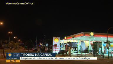 Três pessoas ficam feridas a tiros no bairro Vila Nova, em Porto Alegre - Disparos saíram de um carro vermelho. Brigada Militar não identificou suspeitos.