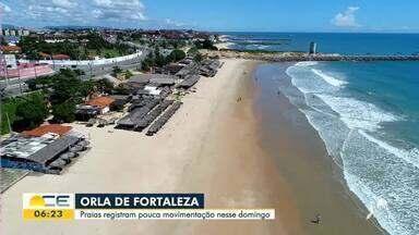 Praias têm pouco movimento com o isolamento social rígido - Saiba mais em g1.com.br/ce