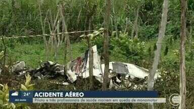 Piloto e profissionais de saúde piauienses morrem em acidente aéreo no Ceará - Piloto e profissionais de saúde piauienses morrem em acidente aéreo no Ceará