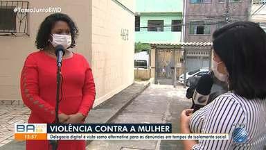 Delegacia digital é vista como alternativa para as denúncias no período de isolamento - Somente no fim de semana, o número de homicídios dobrou em Salvador e RMS.
