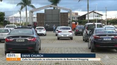 Culto religioso é realizado em estacionamento de shopping, em Vitória da Conquista - Confira.