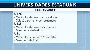 Universidade Estadual de Ponta Grossa cancela vestibular de inverno - Em outras universidades estaduais, o calendário letivo também foi alterado.