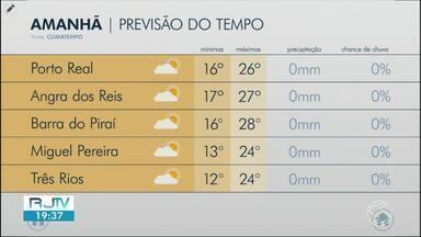 Temperaturas voltam a subir nesta terça-feira no Sul do Rio - Sol aparece entre nuvens em algumas cidades da região.
