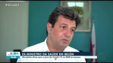 Ex-ministro Luiz Mandetta participa de reunião com governador do Pará em Belém - Ex-ministro Luiz Mandetta participa de reunião com governador do Pará em Belém
