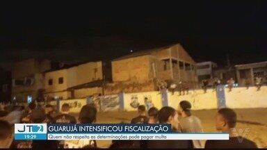 Guarujá intensifica fiscalização após aglomerações na cidade - Quem não respeitar as determinações de isolamento social pode pagar multa.