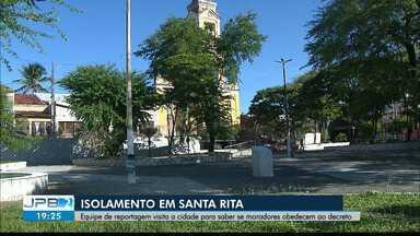 Equipe visita Santa Rita para observar como está o isolamento na cidade - Medidas de combate ao coronavírus.