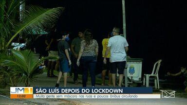 Após o fim do lockdown, muitas pessoas saíram de casa e foram as ruas em São Luís - Algumas delas foram flagradas sem máscara.